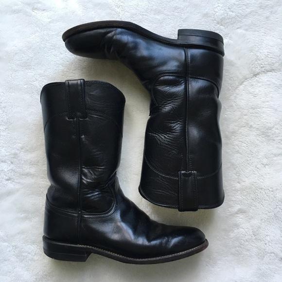 0f988084ac9 Justin Cora Black Women's Roper Boot Sz 6